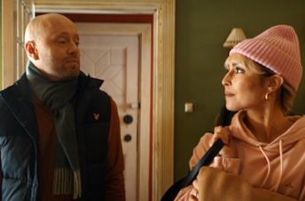 Aksel Hennie e Noomi Rapace in una scena del film The Trip