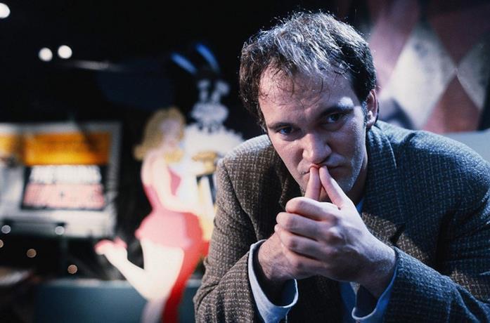Quentin Tarantino sul set di Pulp Fiction