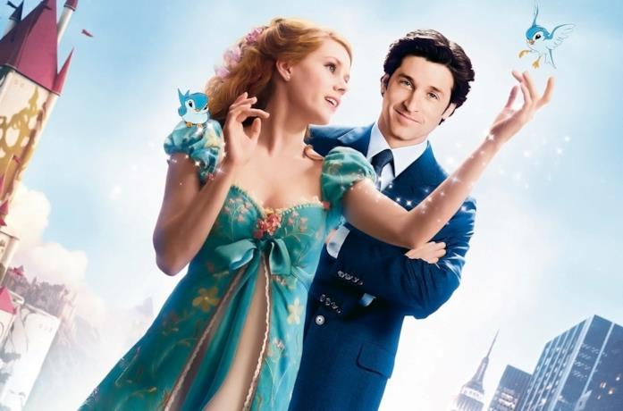 Amy Adams e Patrick Dempsey in una foto promozionale di Come d'incanto