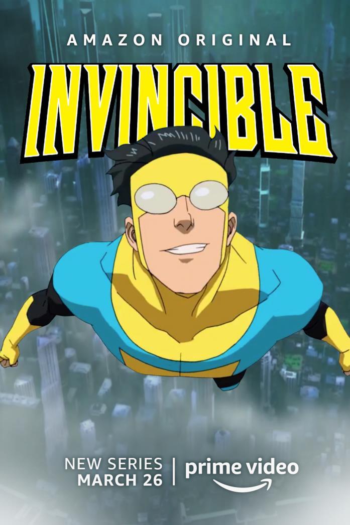 Il poster della serie Invincible