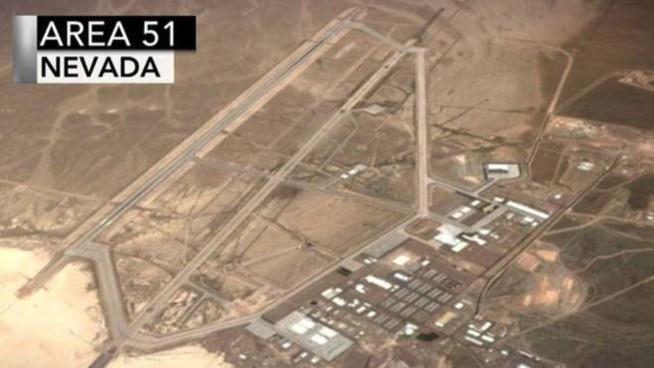 Una foto dall'alto dell'Area 51