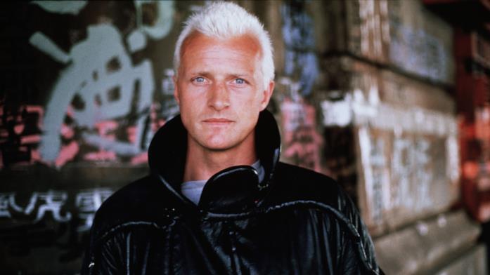 Rutger Hauer sul set di Blade Runner