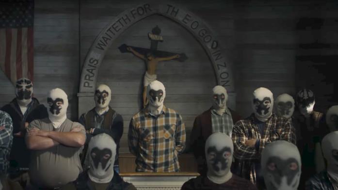 Un'immagine della Settima Cavalleria in Watchmen
