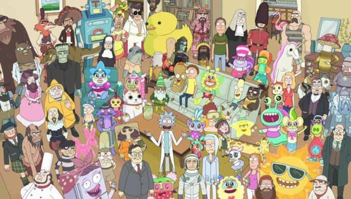 Una scena tratta da Rick and Morty
