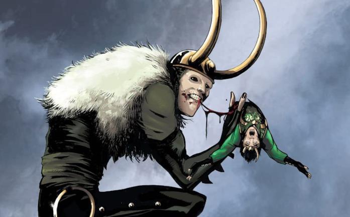 Dettaglio della cover di Loki: Agent of Asgard #12