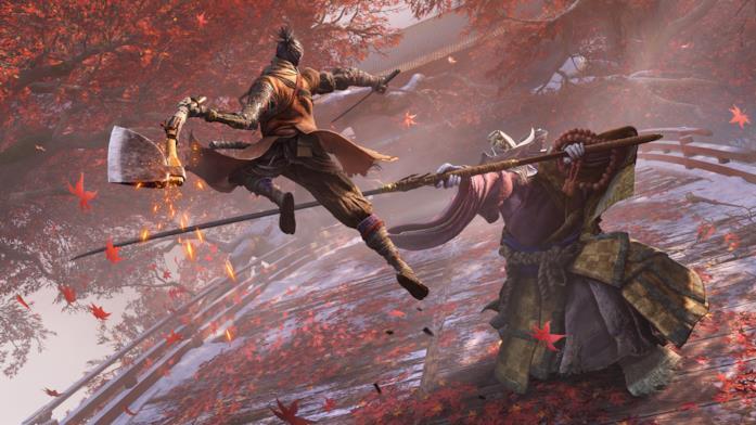 Un'immagine di gioco da Sekiro: Shadows Die Twice, il nuovo gioco di From Software
