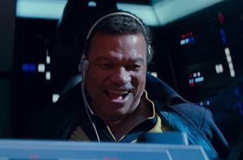 Billy Dee Williams in una scena di Star Wars: L'ascesa di Skywalker