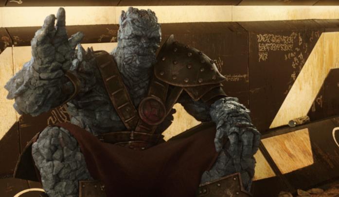 Korg in una scena di Thor: Ragnarok