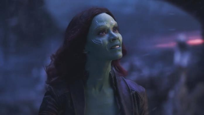 Zoe Saldana come Gamora
