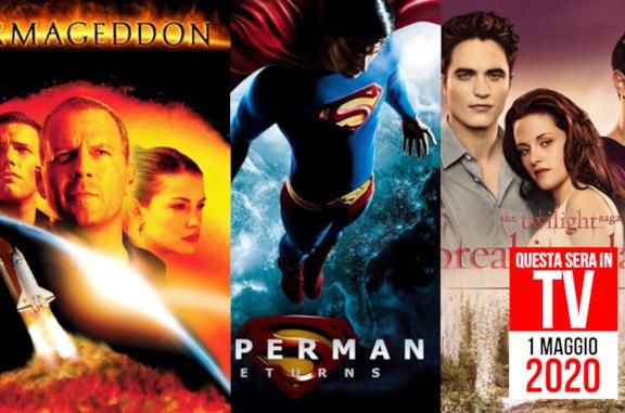Film stasera in TV: l'1 maggio 2020 con Armageddon e Superman Returns