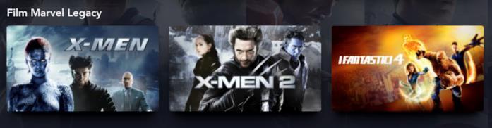 Le locandine di X-Men, X-Men 2 e I Fantastici 4