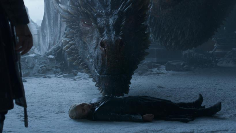 Daenerys e Drogon nell'episodio di GoT 8x06, The Iron Throne