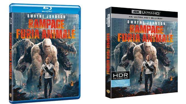 Le versionie blu-ray e 4K di Rampage - Furia Animale