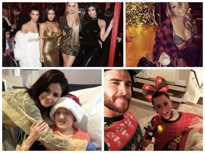Alcune immagini delle star durante questo Natale 2016