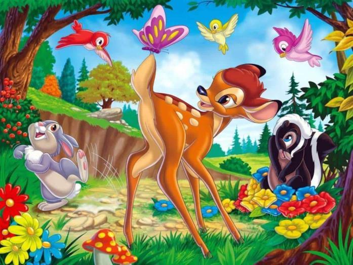 Un'immagine dei protagonisti di Bambi