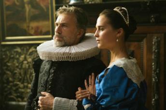 Alicia Vikander e Christoph Waltz in La ragazza dei tulipani