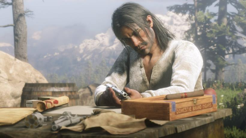 Uno dei personaggi di Red Dead Redemption 2