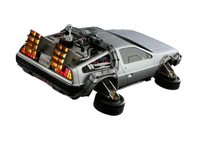Un modello in scala della DeLorean di Ritorno al futuro