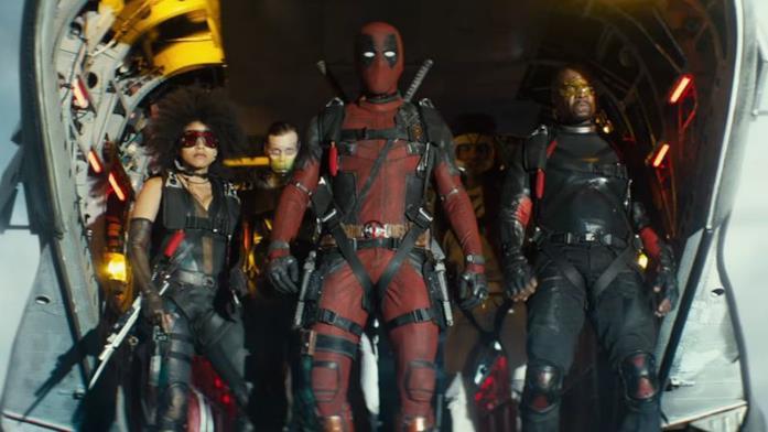 Deadpool e membri del suo team in Deadpool 2