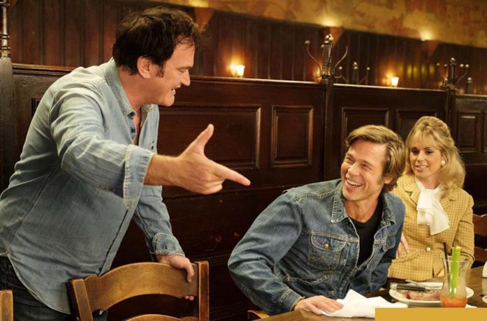 Quentin Tarantino sul set di C'era una volta a...Hollywood