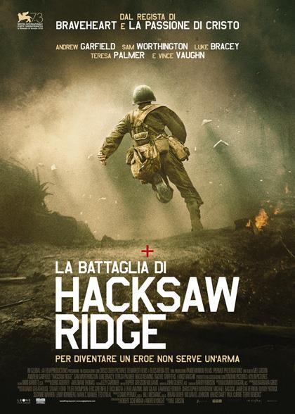 Il poster italiano de La battaglia di Hacksaw Ridge