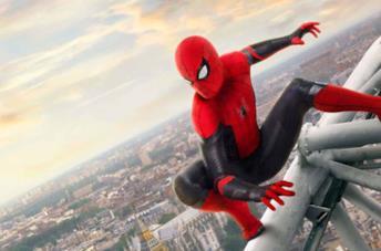 Tom Holland mascherato come Spider-Man