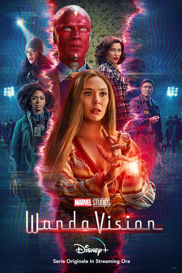 Il cast nella locandina di WandaVision