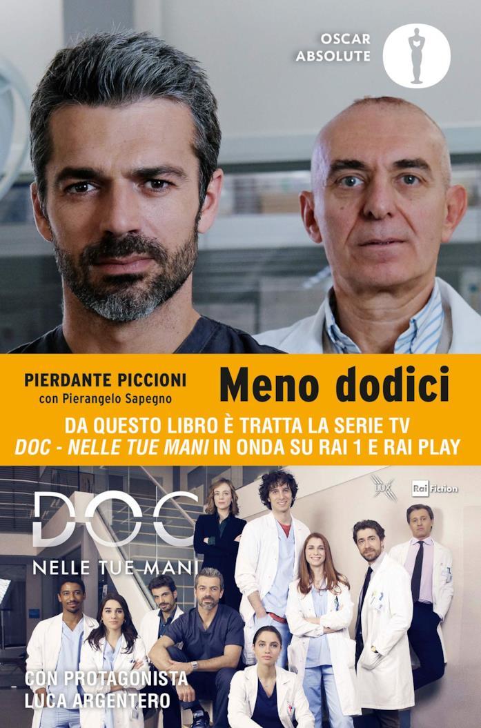 Luca Argentero e Pierdante Piccioni nella copertina di Meno dodici
