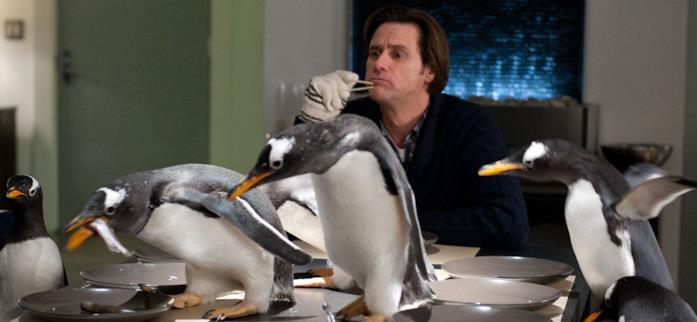 Una scena de I pinguini di Mr. Popper