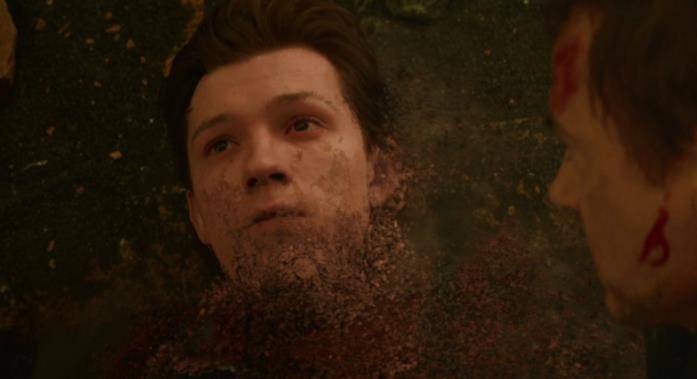 Una scena di Infinity War con Peter Parker