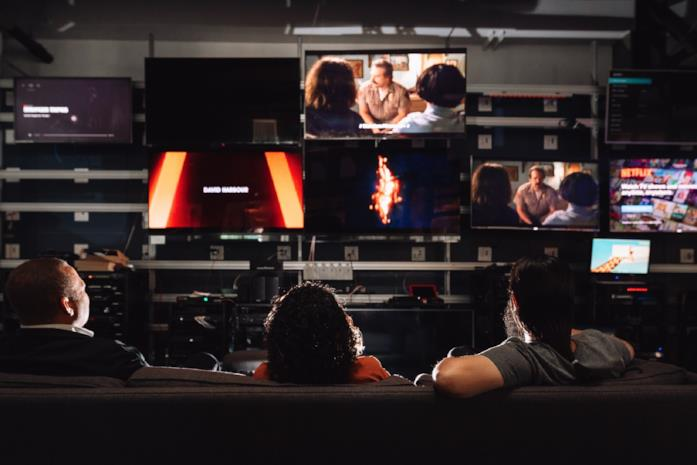 Dipendenti Netflix nell'ufficio di Los Angeles