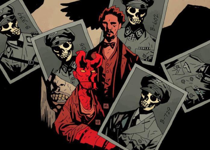 Hellboy e il Professori Broome nei fumetti