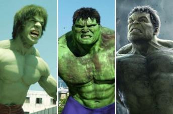 Hulk di Lou Ferrigno, di Eric Bane e di Mark Ruffalo