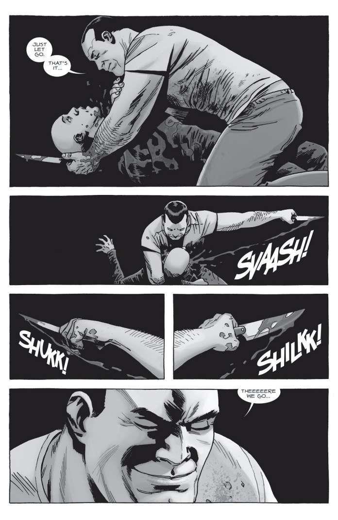 Negan uccide Alpha in The Walking Dead