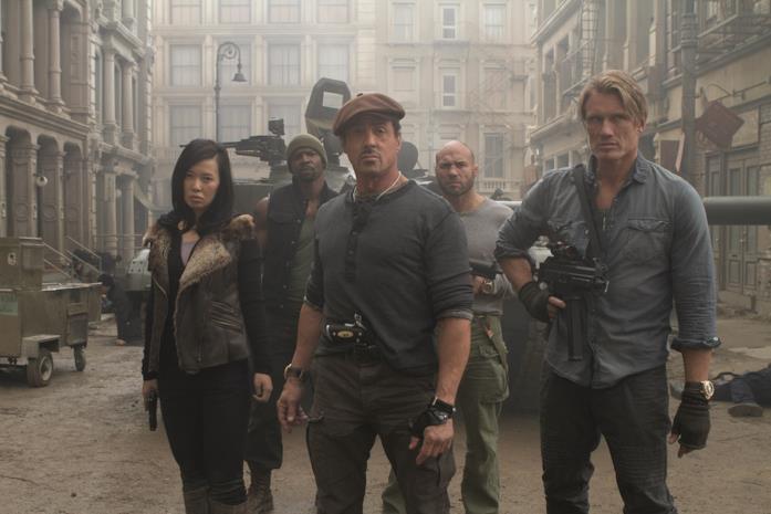 Stallone e I Mercenari nel secondo film della saga