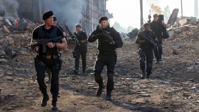 I mercenari di Stallone in una scena del film