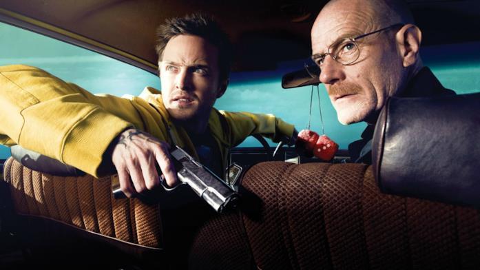 Walter e Jess su un auto con fare sospetto