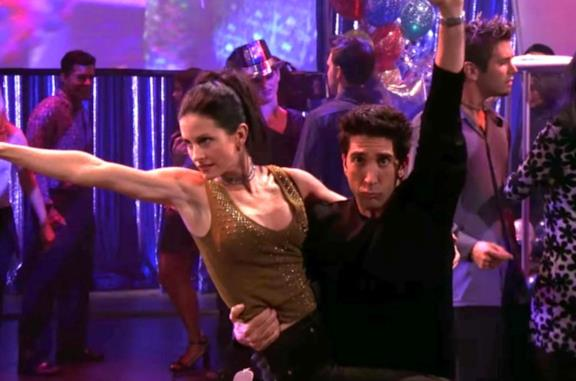 Il balletto di Ross e Monica in Friends
