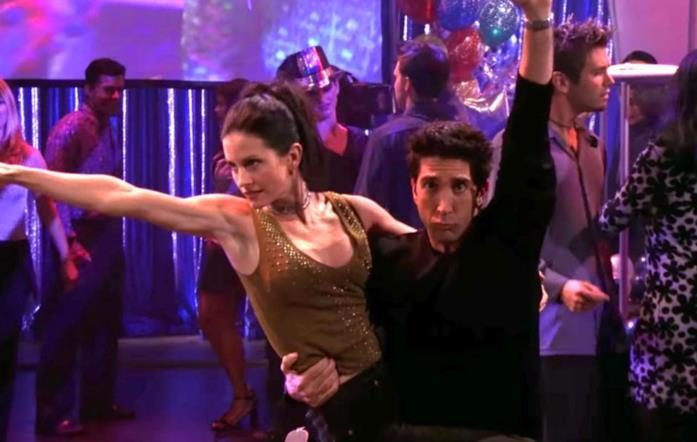 Il balletto di Ross e Monica in Friends