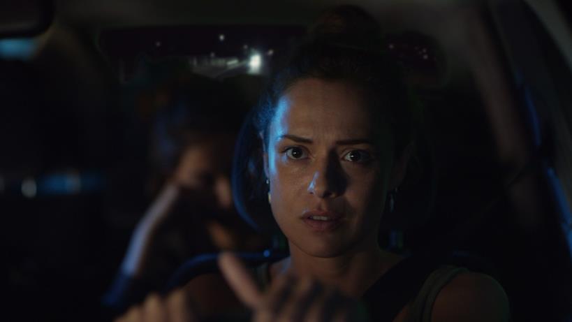 Un'immagine dalle riprese di Curon