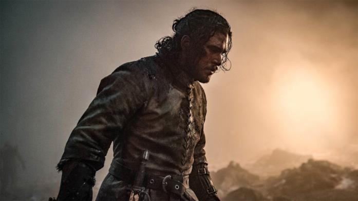 Jon Snow in battaglia
