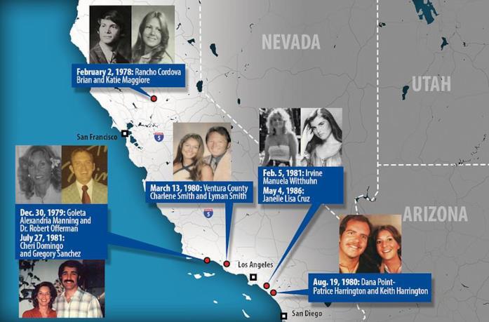 Le 12 vittime del Golden State Killer