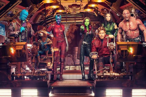 I Guardiani della Galassia dal secondo film Marvel