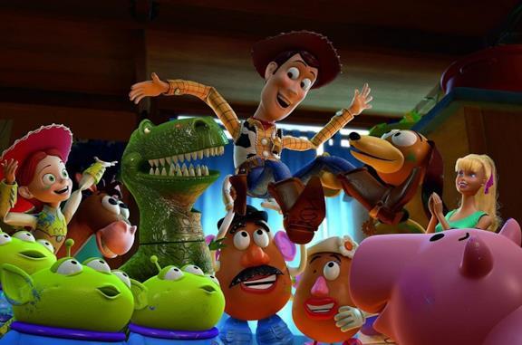 Una scena del film Toy Story 3