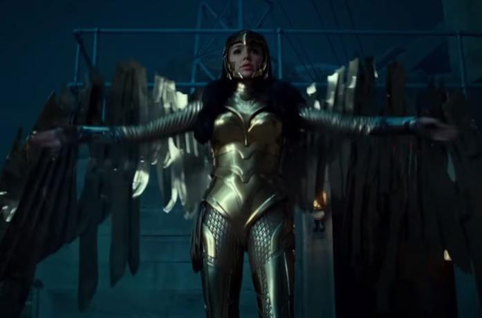 Un'immagine di Gal Gadot in Wonder Woman 1984