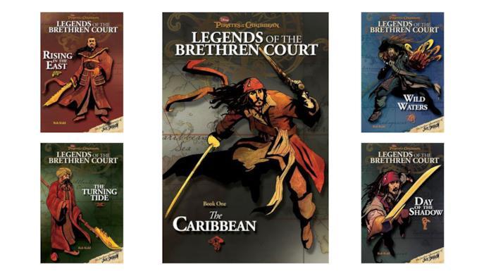 I 5 libri della serie Pirates of the Caribbean: Legends of the Brethren Court