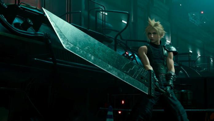 Cloud Strife in Final Fantasy VII Remake