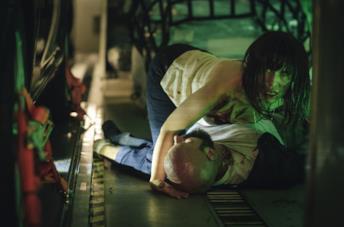 Peri Baumeister in una scena del film Blood Red Sky