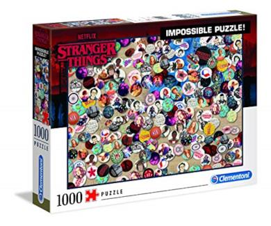 Clementoni - 39528 - Impossible Puzzle - Stranger Things - 1000 Pezzi - Made In Italy - Puzzle Adulti Netflix
