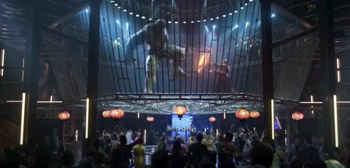 Il ring centrale di Macau con Wong e Abominio